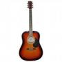 Гитара вестерн ADAMS (Canada) AG-300 OBS санберстиз нат. в черны