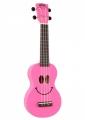 Укулеле сопрано Mahalo U-SMILE PK цвет розовый с чехлом