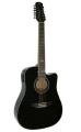 Гитара 12 струнная электроакустическая Madeira HW-812 BK EQ