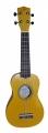 Укулеле сопрано Woodcraft UK-100/YW цвет- ЖЁЛТЫЙ металлик (гавай